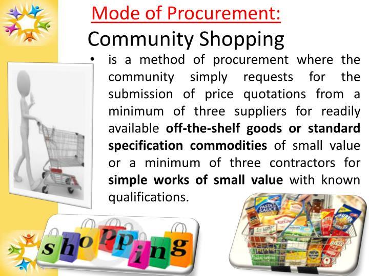 Mode of Procurement:
