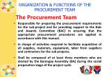 organization functions of the procurement team3