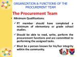 organization functions of the procurement team4