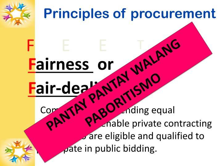 Principles of procurement