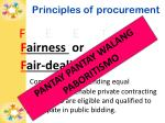 principles of procurement