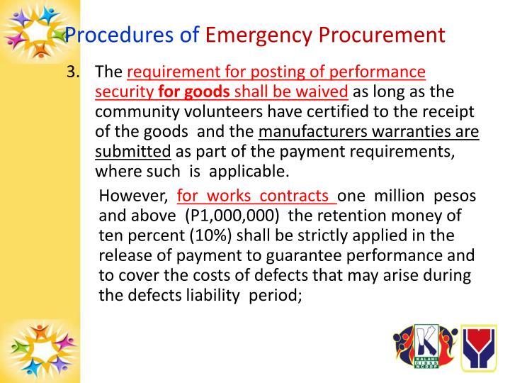 Procedures of