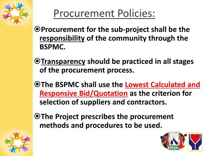 Procurement Policies: