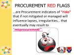 procurement red flags