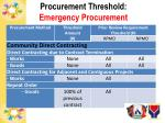 procurement threshold emergency procurement1