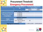procurement threshold emergency procurement2