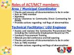 roles of act mct members