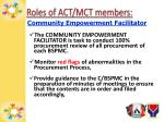 roles of act mct members2
