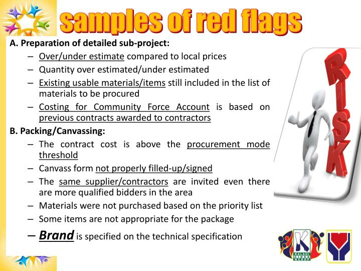 samples of red flags