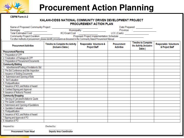 Procurement Action Planning