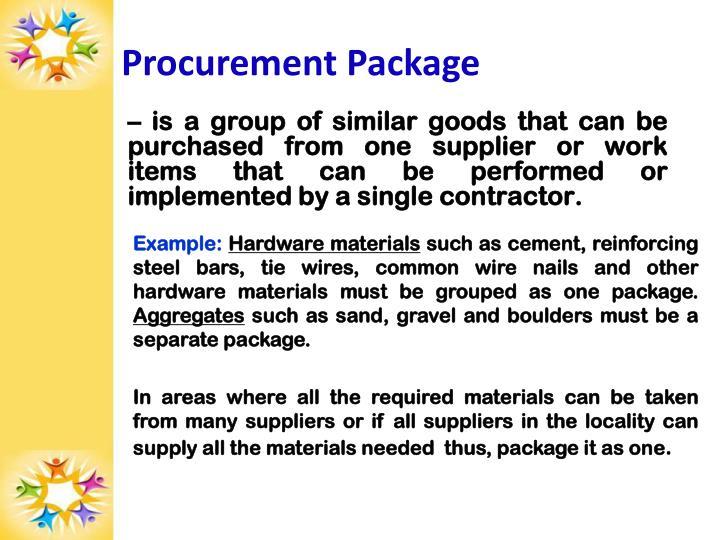 Procurement Package