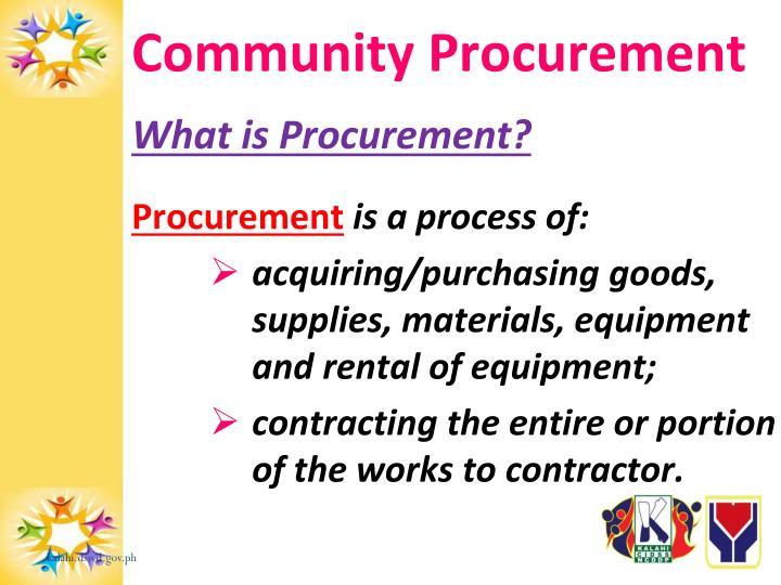 Community Procurement