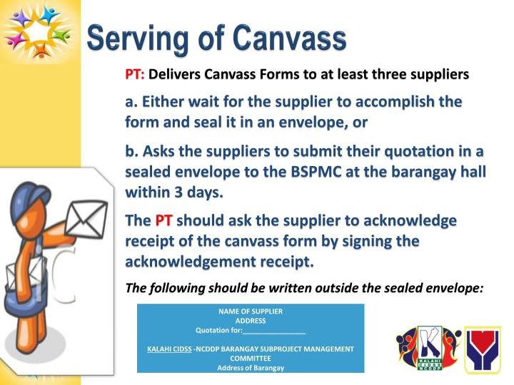 Serving of Canvass