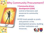 why community procurement