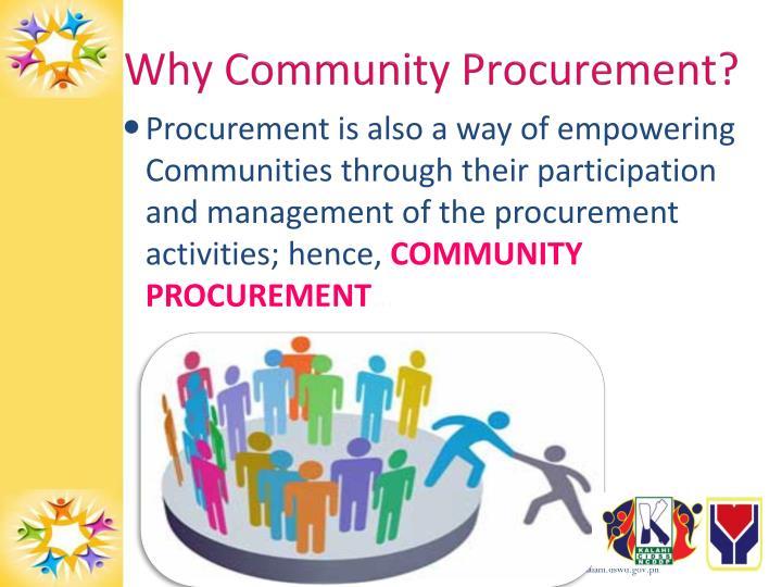 Why Community Procurement?