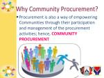 why community procurement1