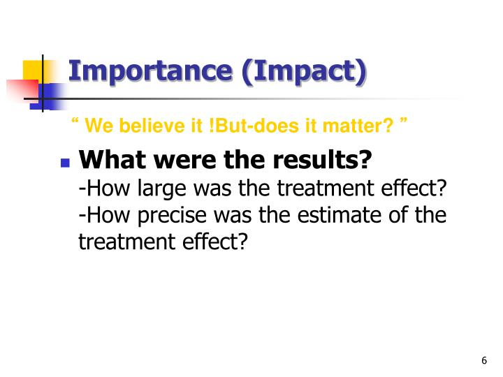 Importance (Impact)