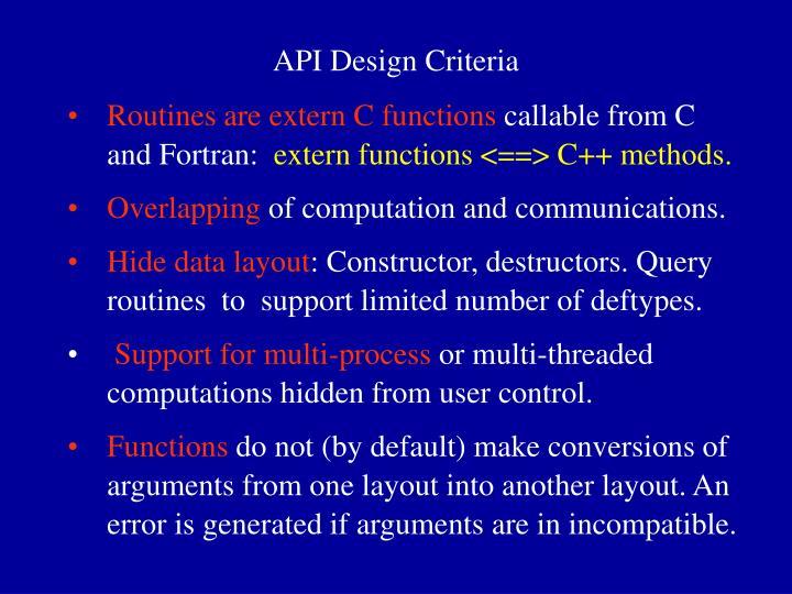 API Design Criteria