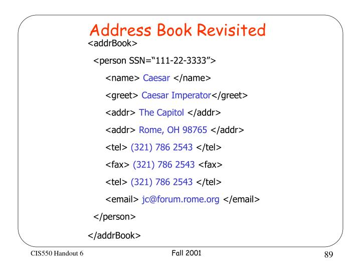 Address Book Revisited