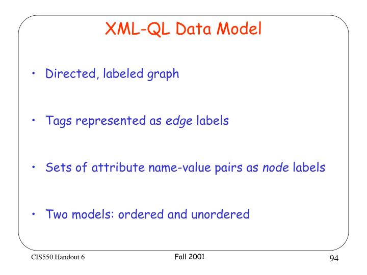 XML-QL Data Model