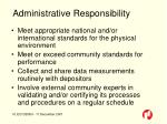 administrative responsibility