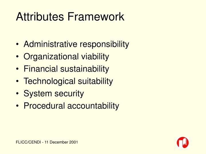 Attributes Framework