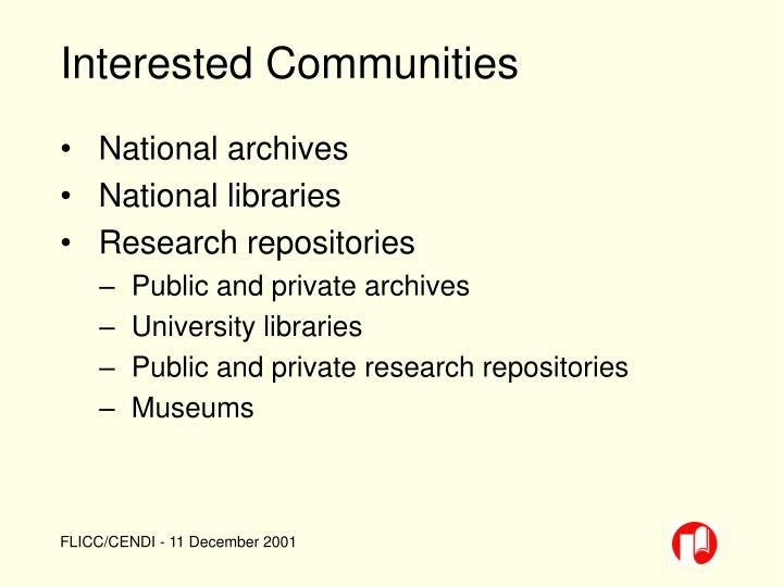 Interested Communities
