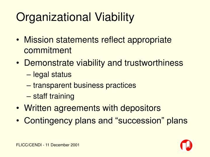 Organizational Viability