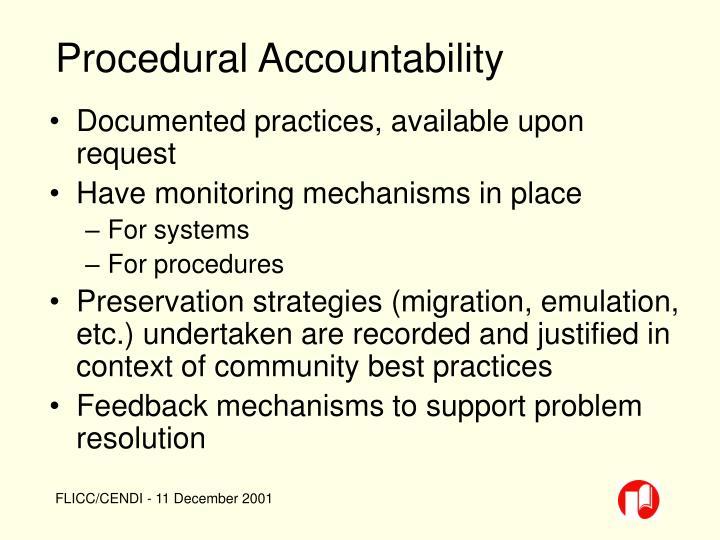 Procedural Accountability
