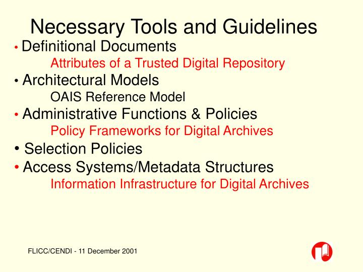 Necessary Tools and Guidelines