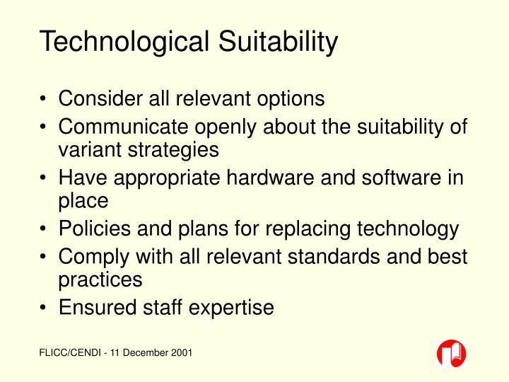 Technological Suitability