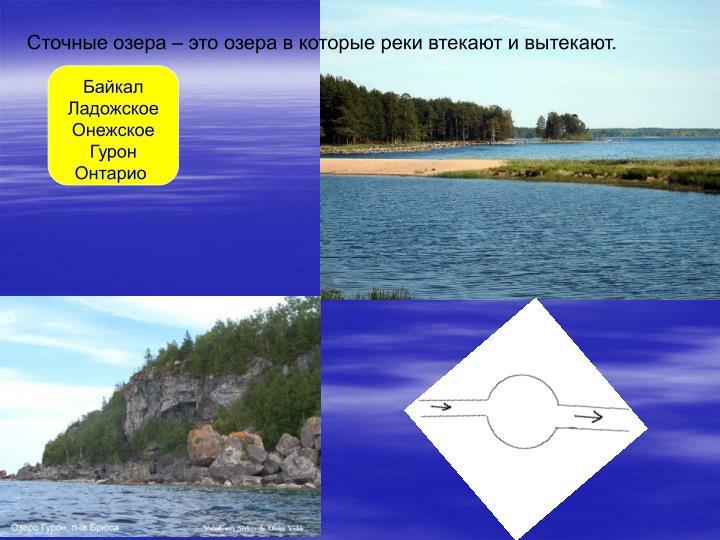 Сточные озера – это озера в которые реки втекают и вытекают.