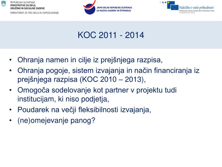 KOC 2011 - 2014