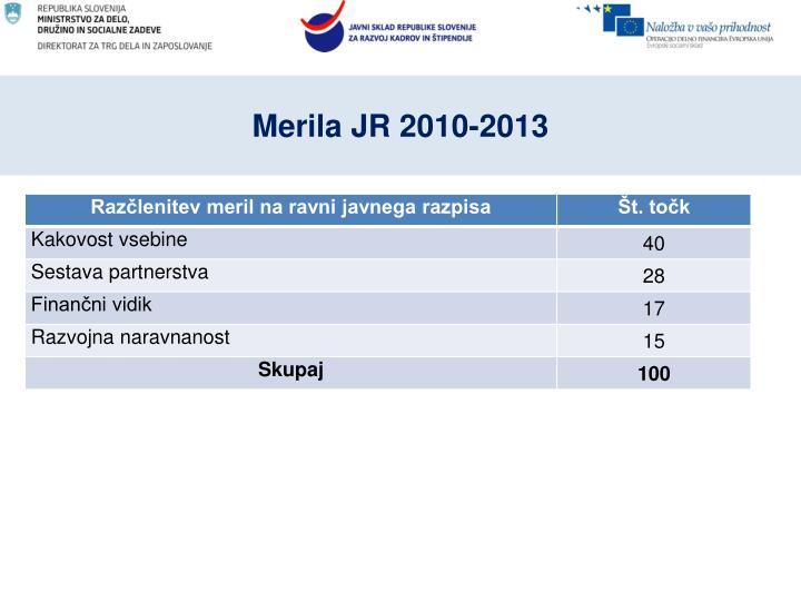 Merila JR 2010-2013