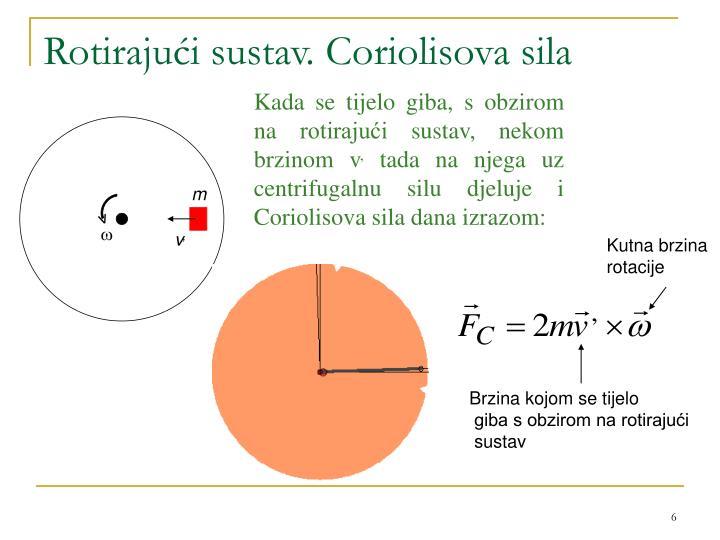 Rotirajući sustav. Coriolisova sila