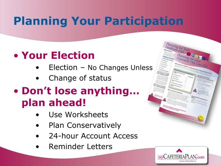 Planning Your Participation