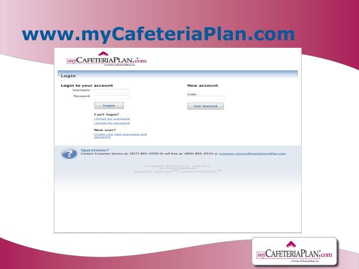 www.myCafeteriaPlan.com