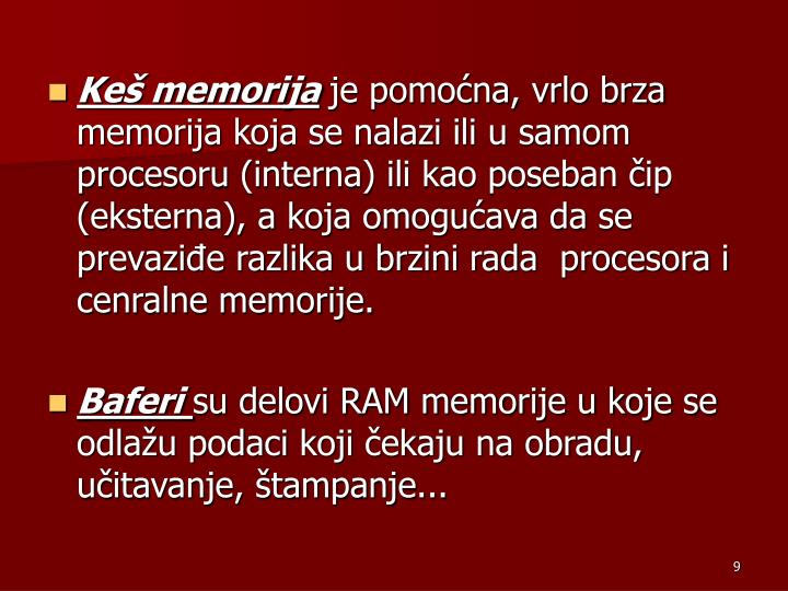 Keš memorija