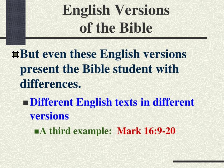 English Versions