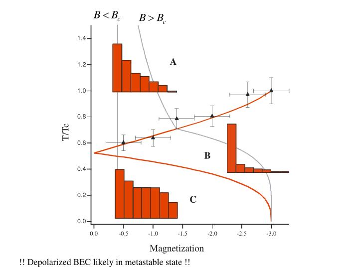!! Depolarized BEC likely in metastable state !!