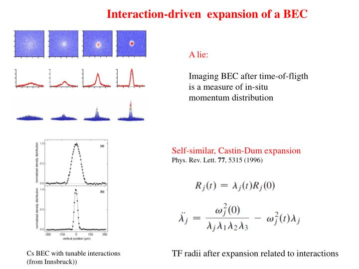 Interaction-driven  expansion of a BEC