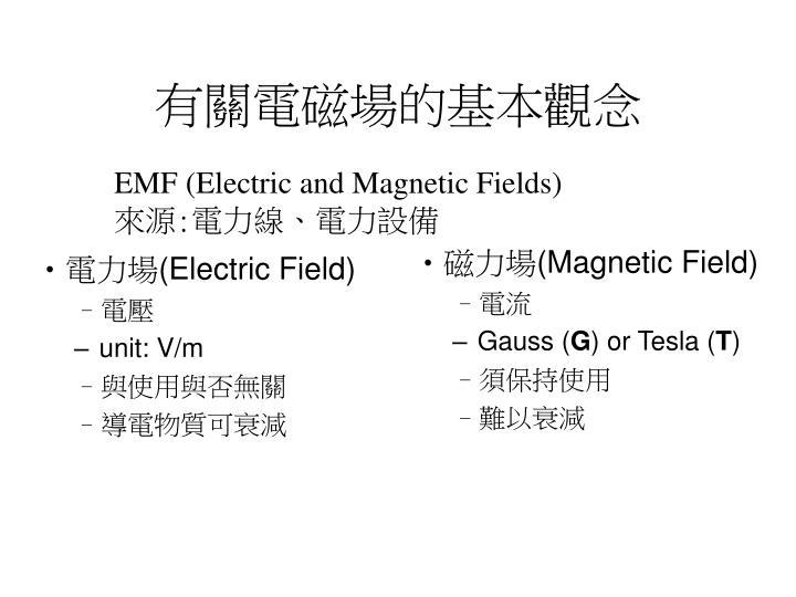 有關電磁場的基本觀念