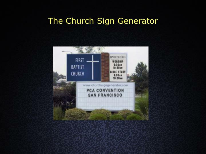 The Church Sign Generator