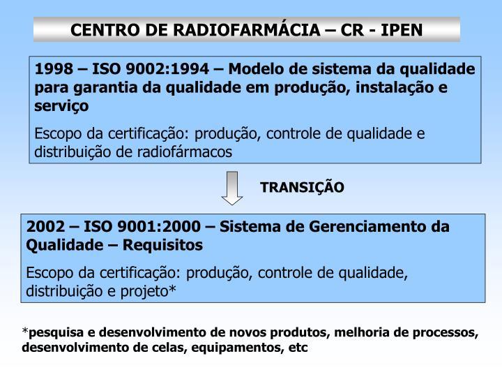 CENTRO DE RADIOFARMÁCIA