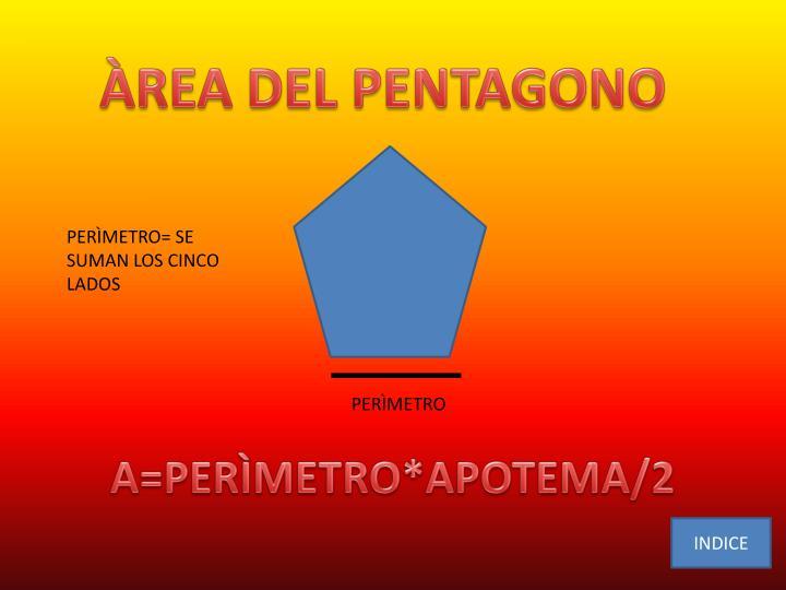 ÀREA DEL PENTAGONO