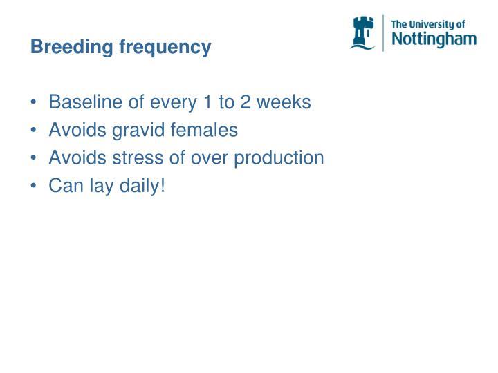 Breeding frequency