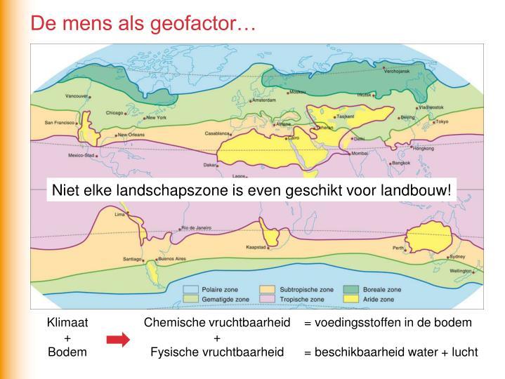 De mens als geofactor…
