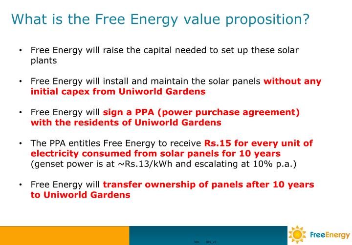 What is the Free Energy value proposition?