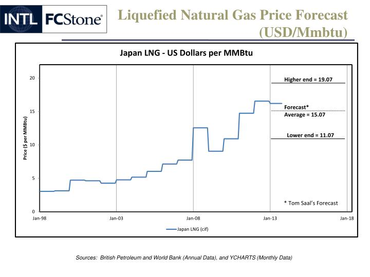 Liquefied Natural Gas Price Forecast