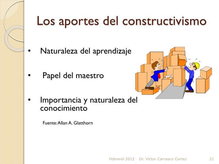 Los aportes del constructivismo